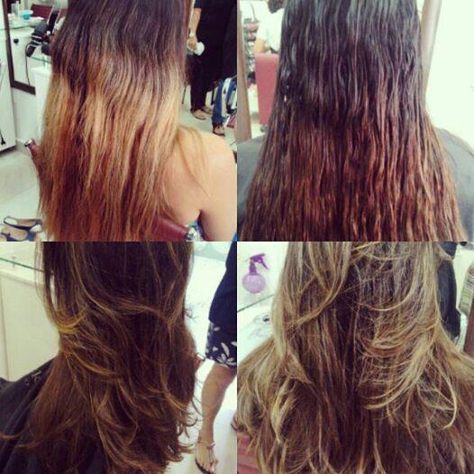 Corte e coloração. cabelo cabeleireiro(a)