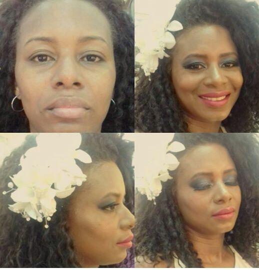 Make pele negra. maquiagem cabeleireiro(a)
