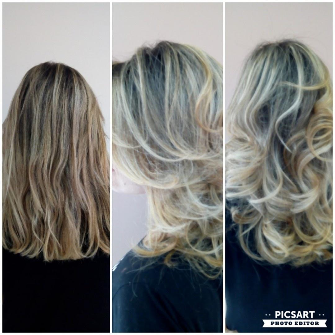 Escova ondas. cabelo auxiliar cabeleireiro(a) vendedor(a)