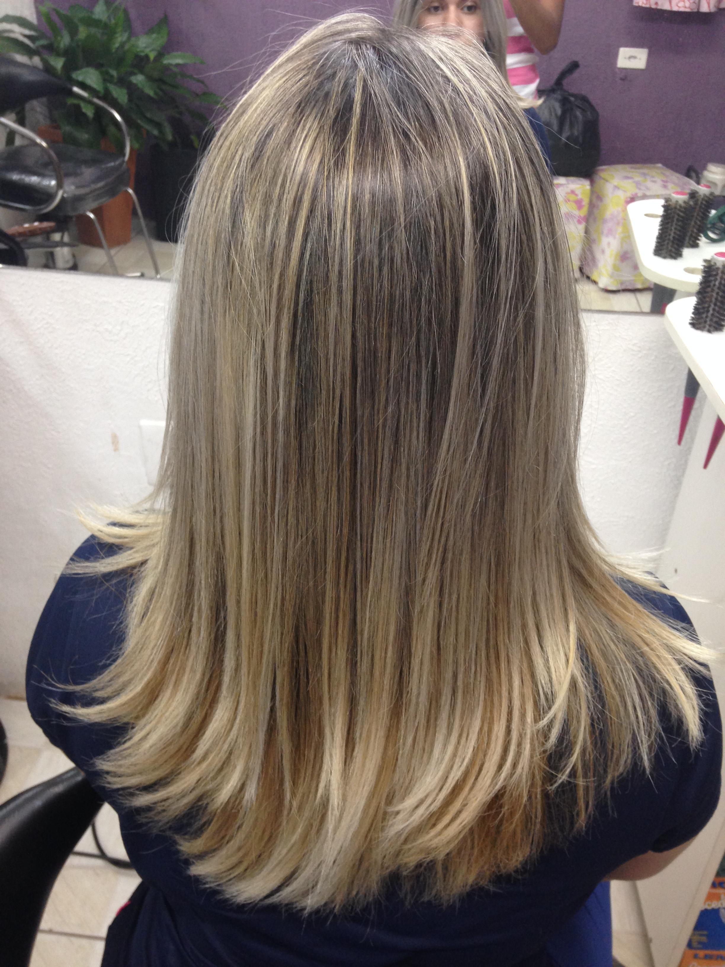 Luzes na touca definidas #LOOOIRA cabelo estudante (esteticista) cabeleireiro(a)