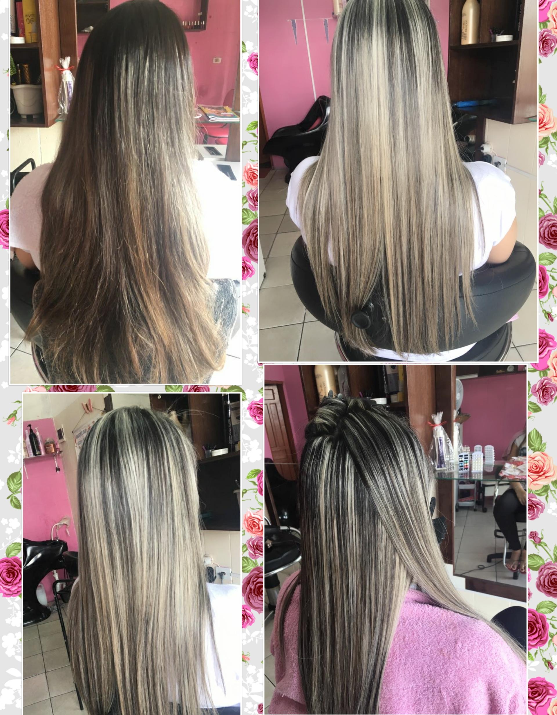 Trabalho de luzes , realizado no final do ano. cabelo auxiliar cabeleireiro(a) estudante (esteticista)