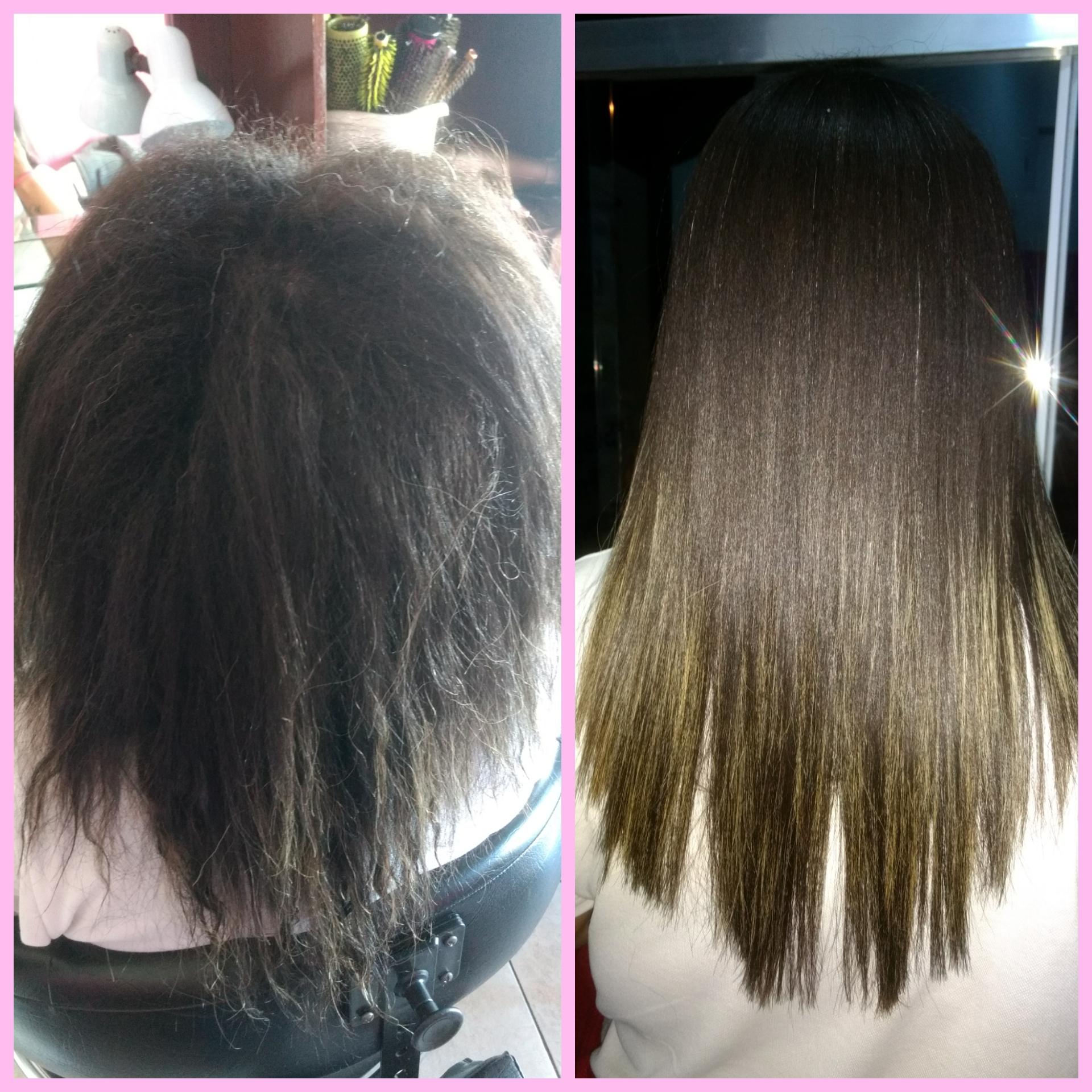 Trabalho realizado , progressiva. cabelo auxiliar cabeleireiro(a) estudante (esteticista)