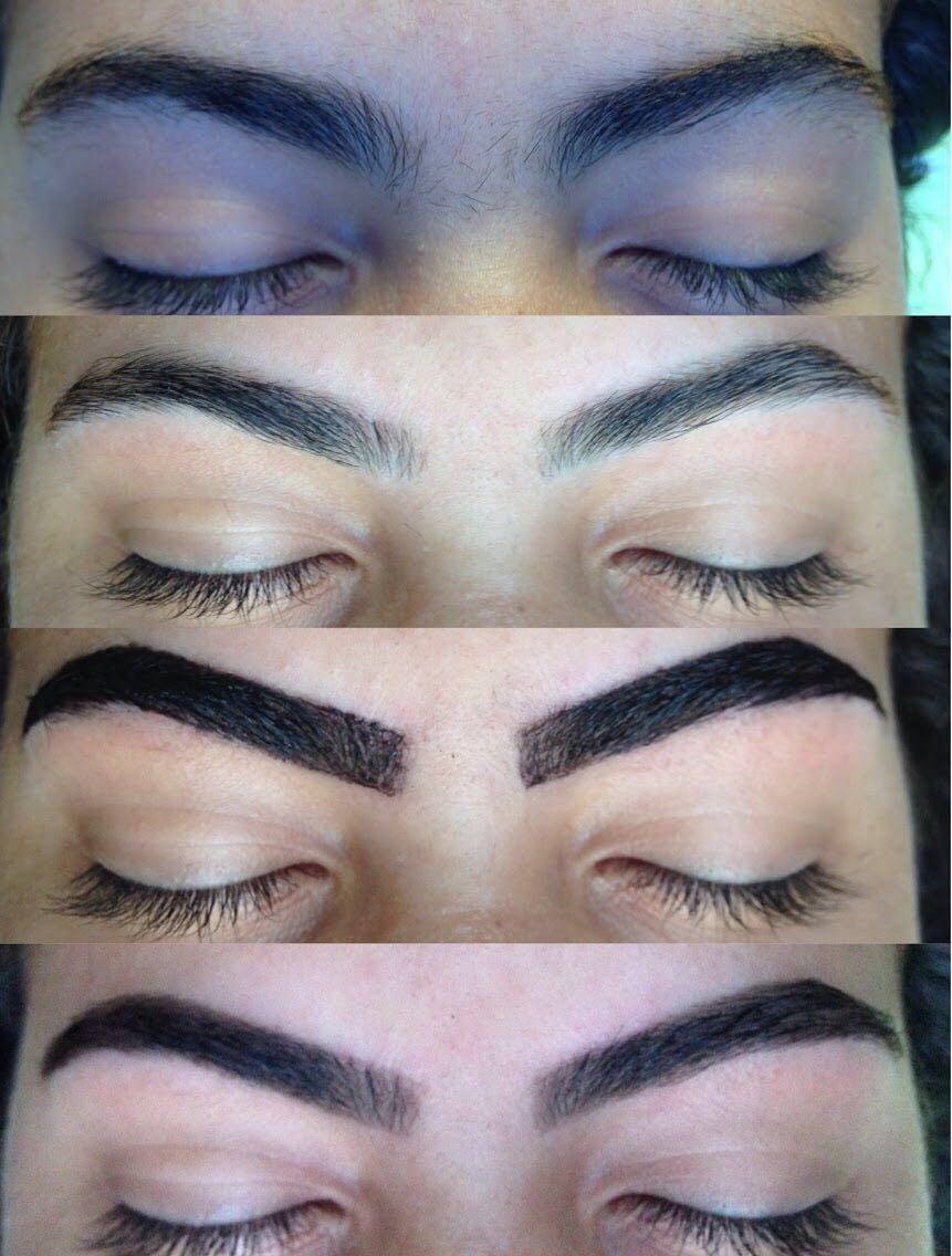 Designer de sobrancelhas com aplicação de henna, para dar um preenchimento perfeito!  outros esteticista designer de sobrancelhas estudante recepcionista
