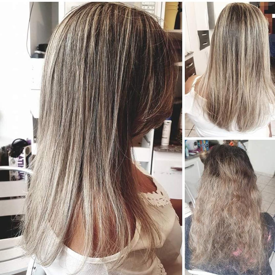 Reflexo corte e escova  cabelo