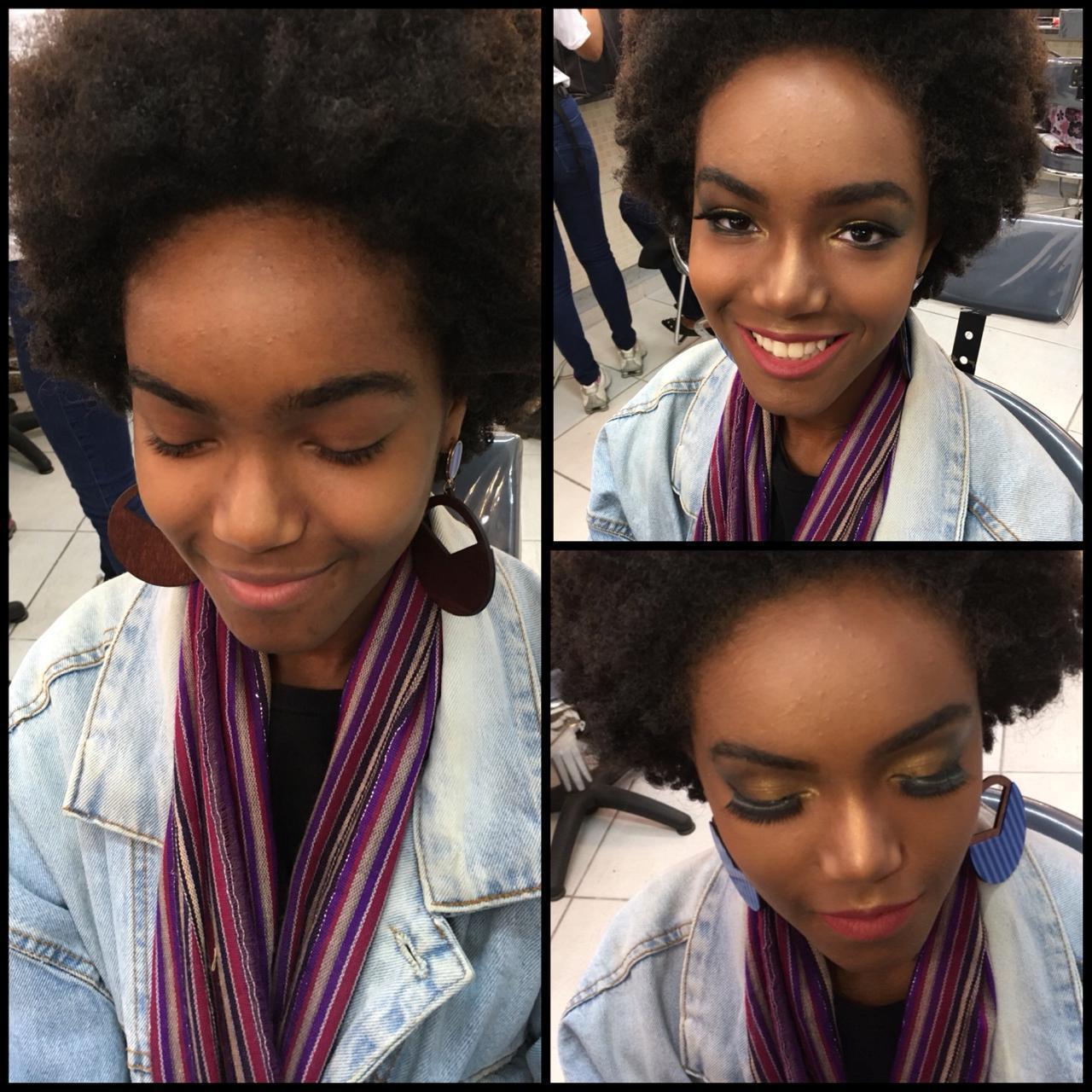 Pela negra  maquiagem maquiador(a)
