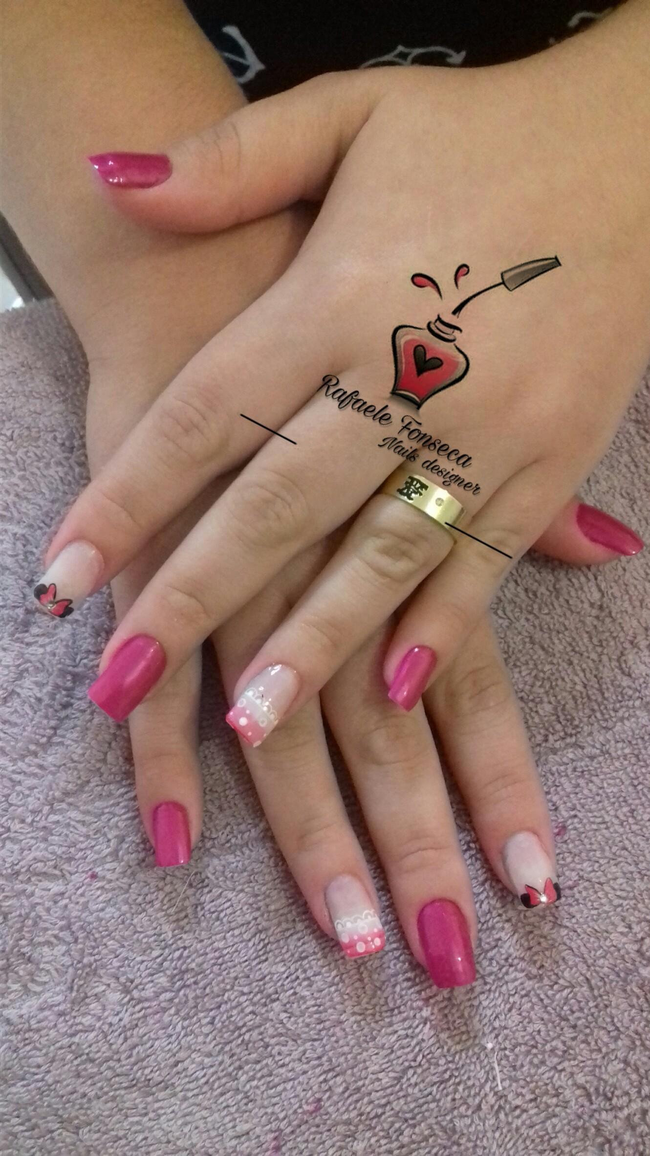 Cutilada, esmaltada é desenhada a mão 💅❤ unha manicure e pedicure