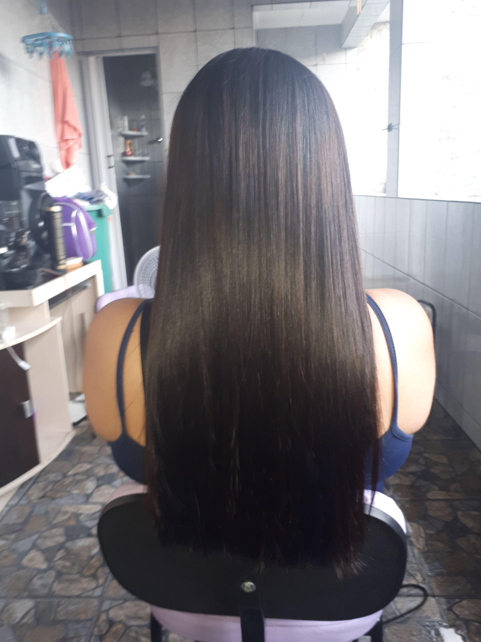 Progressiva depois cabelo auxiliar cabeleireiro(a)