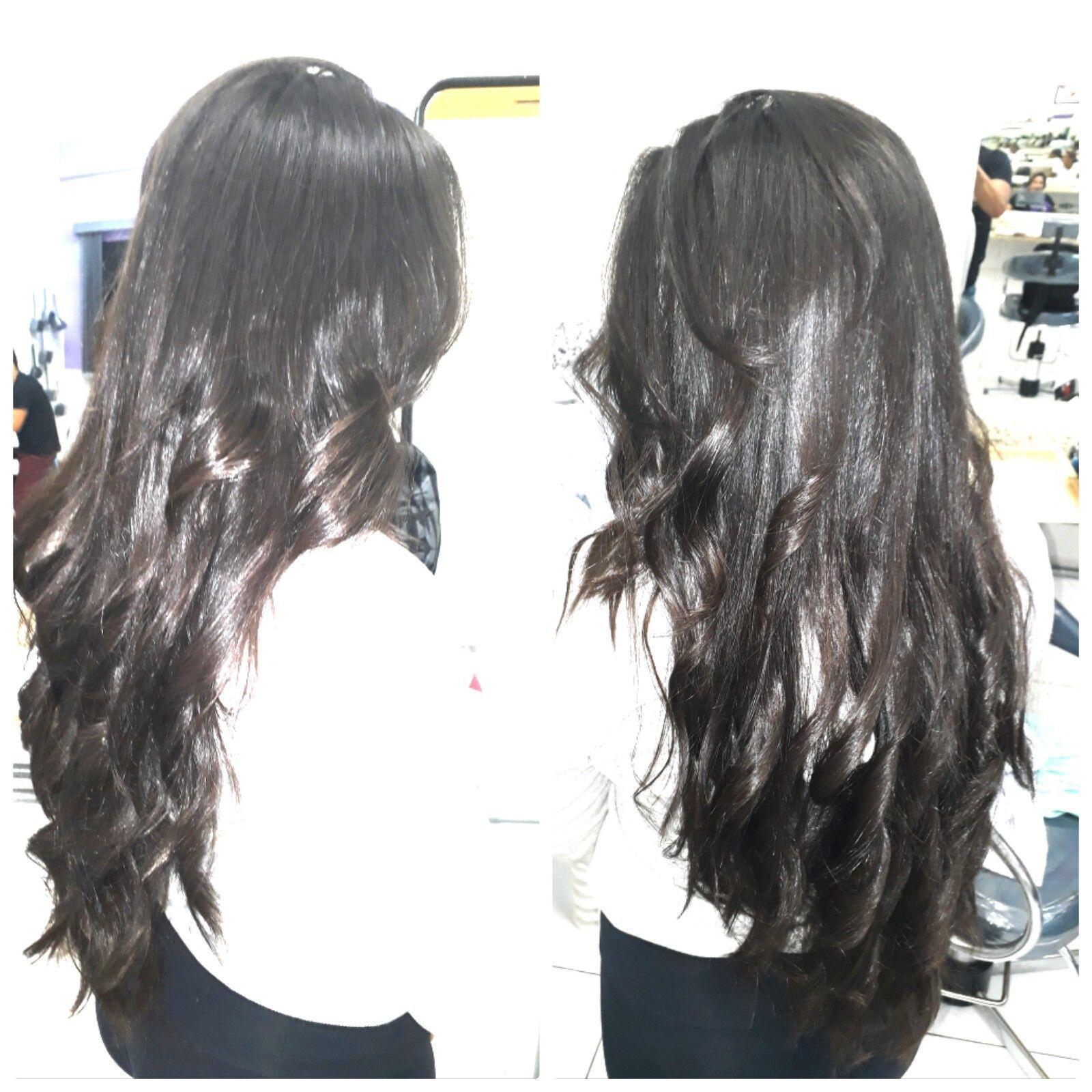 Corte repicado sem tirar comprimento. cabelo auxiliar cabeleireiro(a) auxiliar cabeleireiro(a)