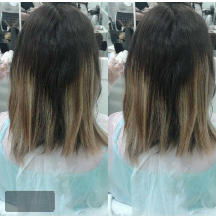 Antes  cabelo auxiliar cabeleireiro(a)