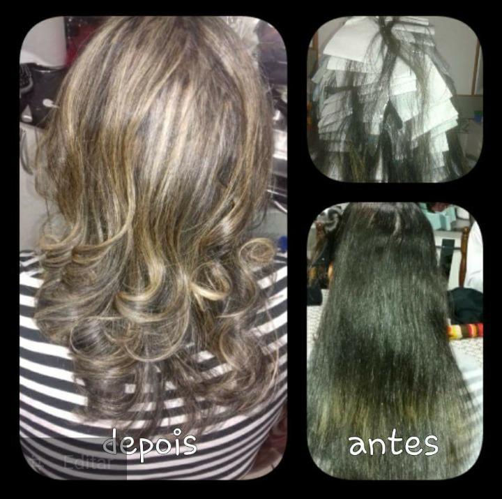 Luzes tricotada cabelo auxiliar cabeleireiro(a)
