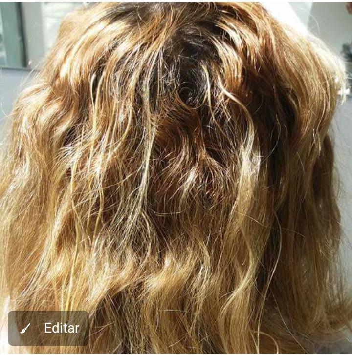 Antes da correção  de cor  cabelo auxiliar cabeleireiro(a)