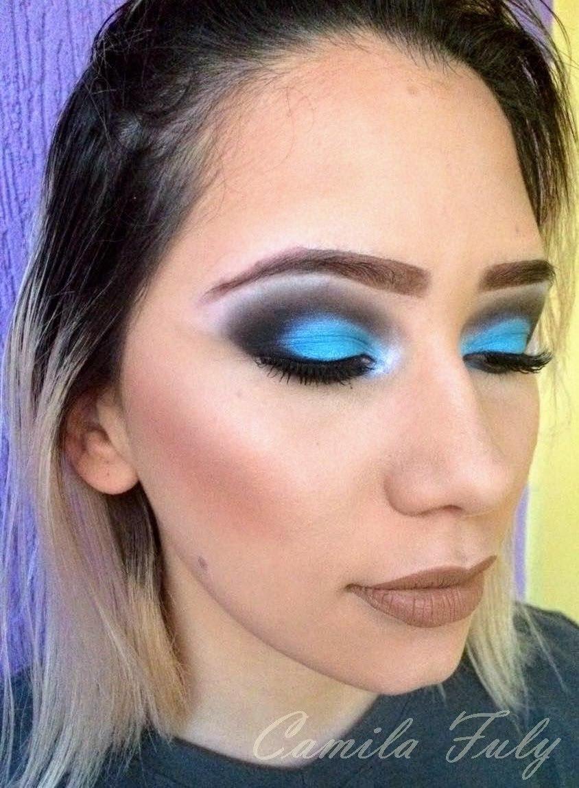 Olho azul marcante para arrasar na night! #makeup #Blue  maquiagem maquiador(a) designer de sobrancelhas
