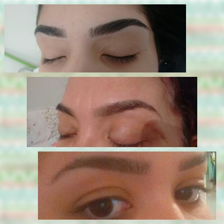 Somente design sem aplicação de henna. outros estudante (cabeleireiro) designer de sobrancelhas
