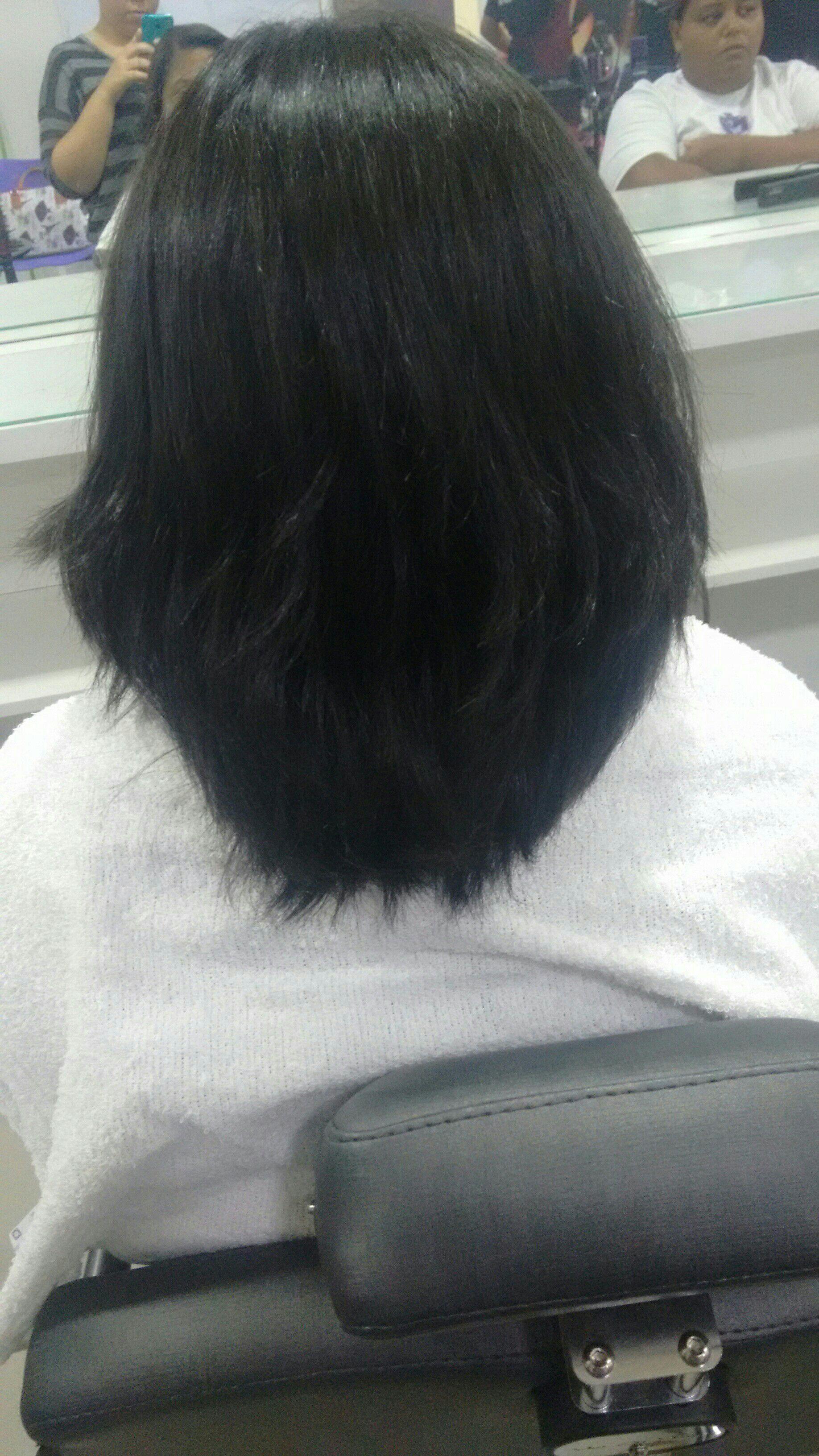 Escova+prancha finalizado cabelo estudante (cabeleireiro) designer de sobrancelhas