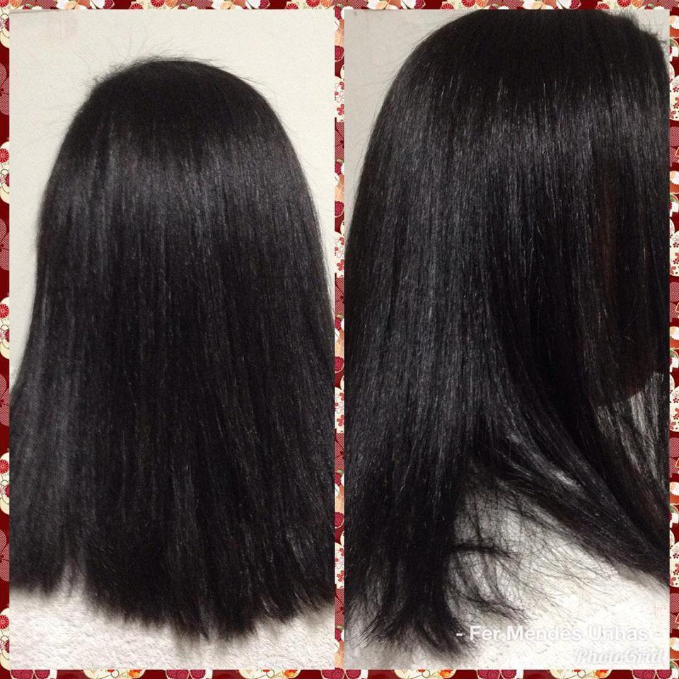 Hidratação e escova! cabelo auxiliar cabeleireiro(a) manicure e pedicure estudante (designer sobrancelha)