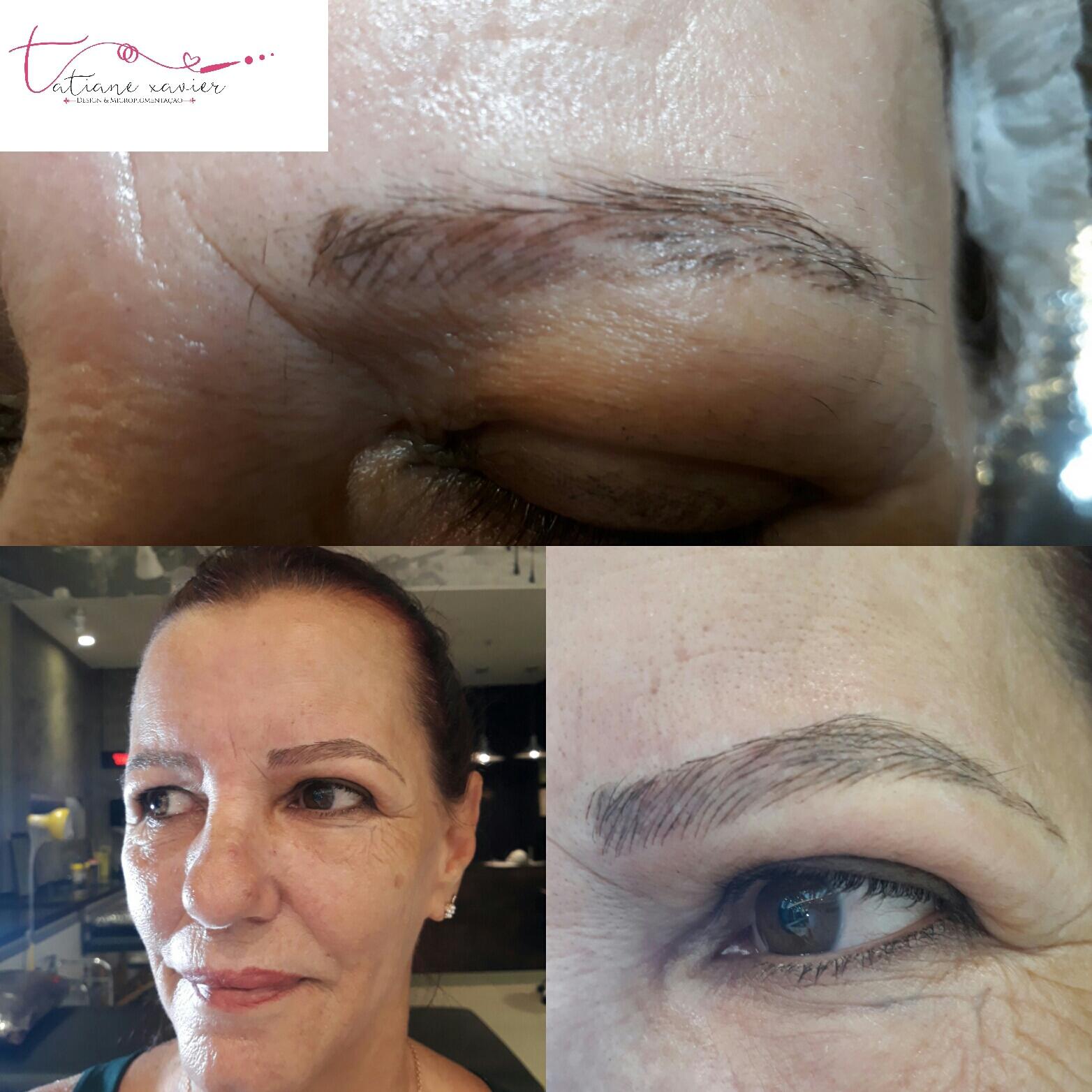 Foi a fio realista estética designer de sobrancelhas micropigmentador(a) depilador(a)