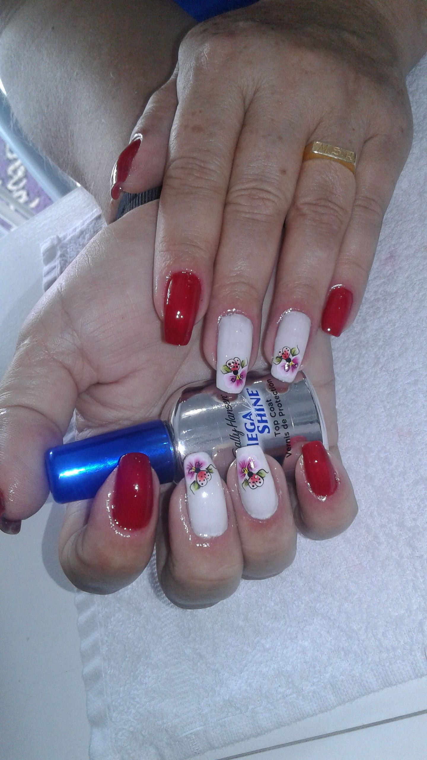 Banho de gel  e unhas decoradas 👌💅💅 unha manicure e pedicure