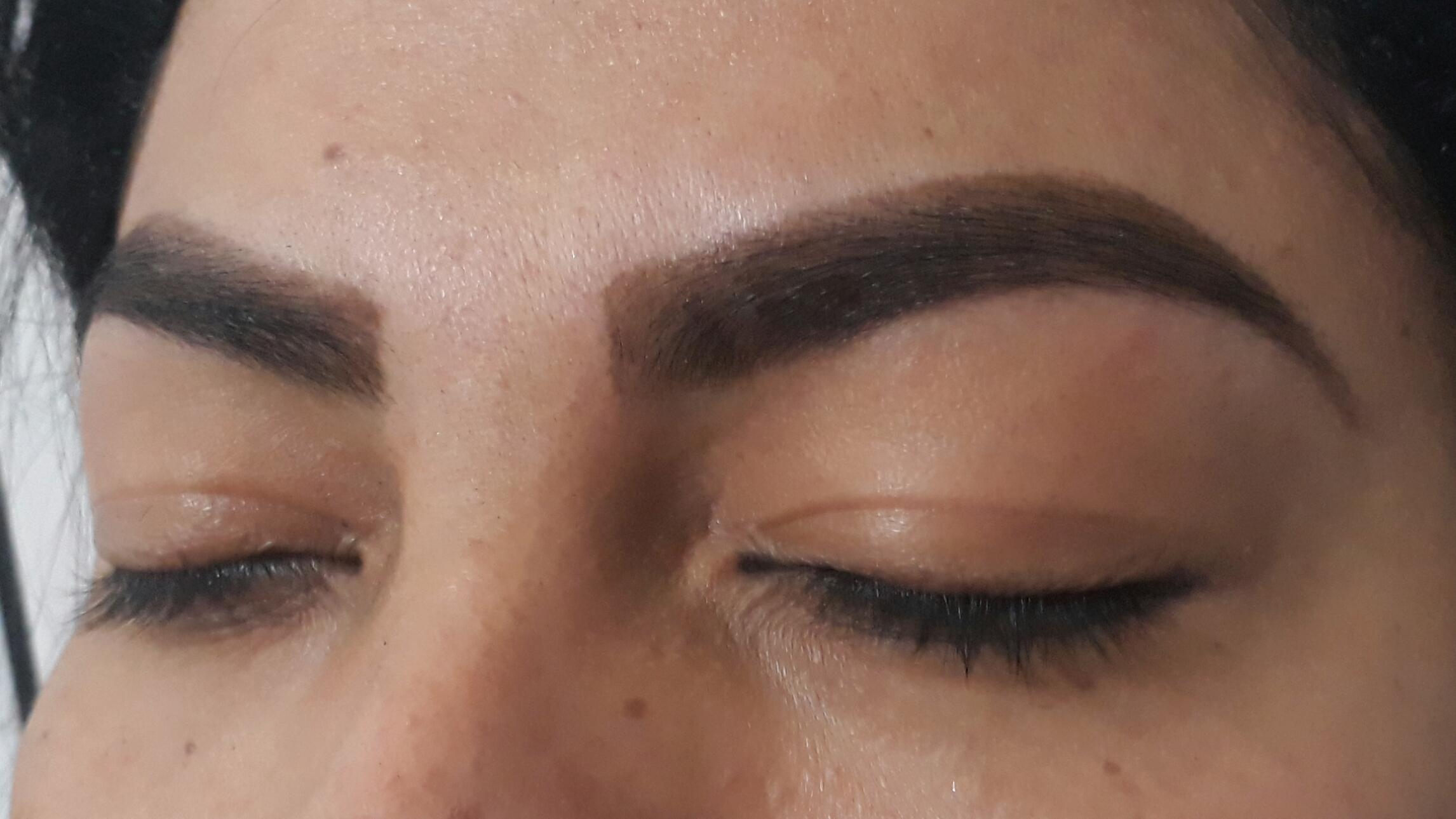 Design de sobrancelhas com aplicação de henna. outros