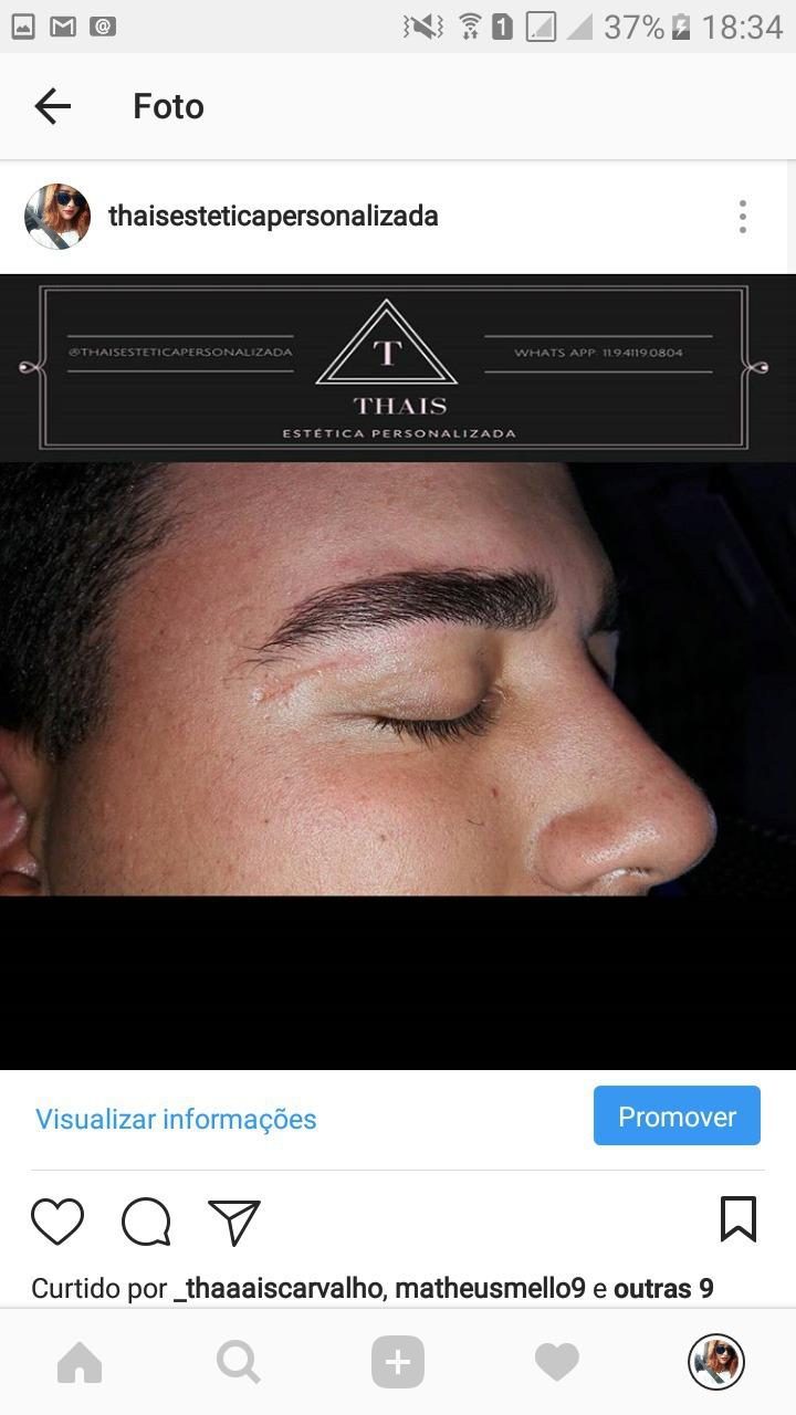 Sobrancelhas masculinas estética esteticista designer de sobrancelhas