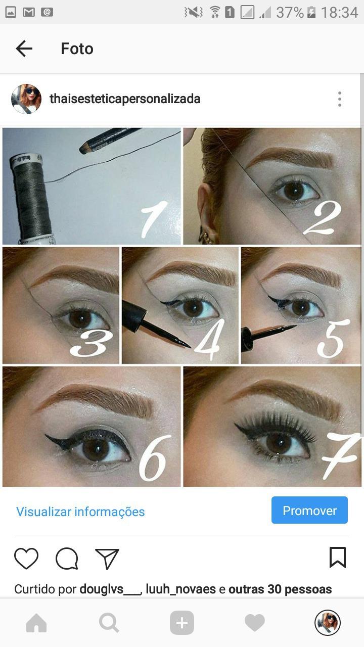 Delineado!  #Delineado #eyes #make  maquiagem esteticista designer de sobrancelhas