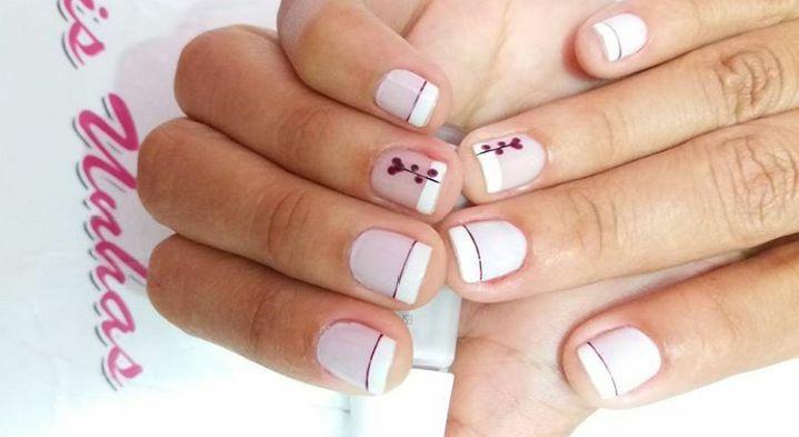 Unha cutilada e decorada. #DecorandocomDelicadeza unha manicure e pedicure