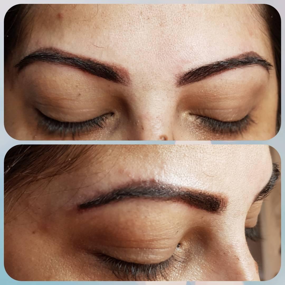 Dermopigmentação de sobrancelhas, técnica ombré / shadow - foto pós procedimento. outros designer de sobrancelhas maquiador(a) dermopigmentador(a) estudante (visagista)