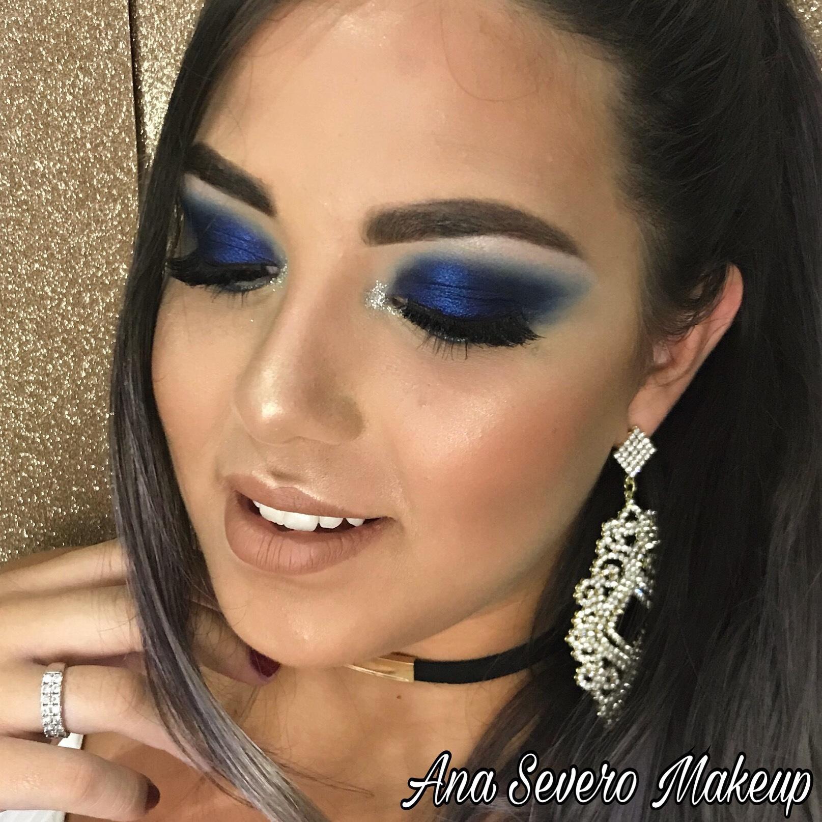 Maquiagem em tons de azul!!! #maquiagemcolorida maquiagem maquiador(a) designer de sobrancelhas