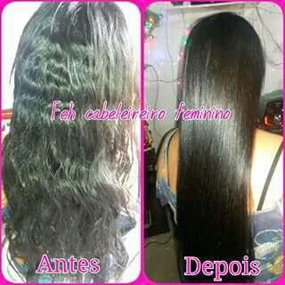 Progressiva já lavado com shampoo e condicionado secado apenas com o secador dispensei chapinha e escova cabelo auxiliar cabeleireiro(a) auxiliar cabeleireiro(a) auxiliar cabeleireiro(a)