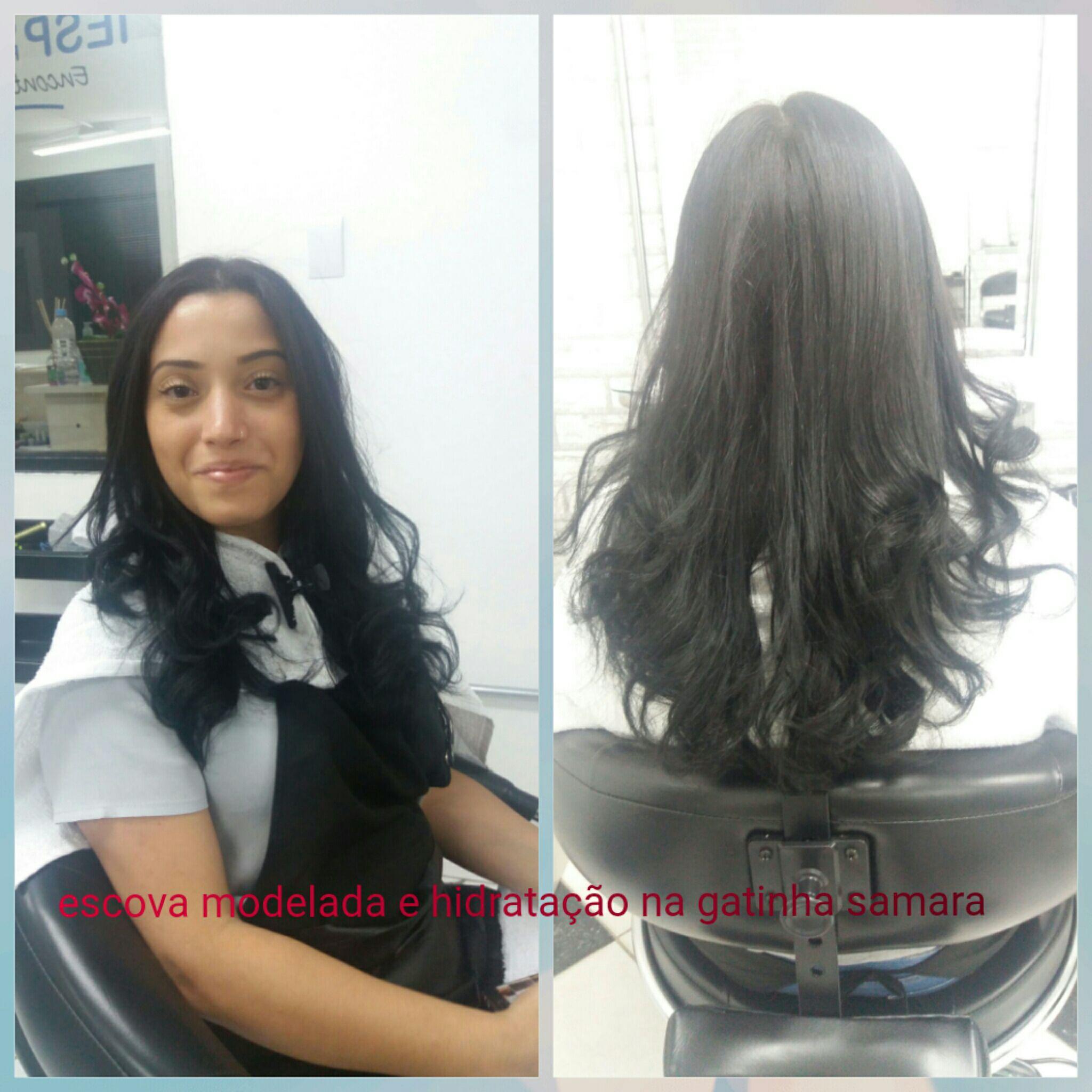 Escova modelada. cabelo auxiliar cabeleireiro(a) auxiliar cabeleireiro(a)