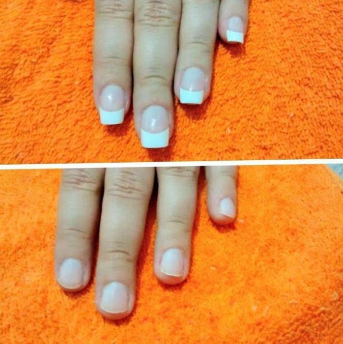 Francesinha permanente alongamento porcelana unha manicure e pedicure