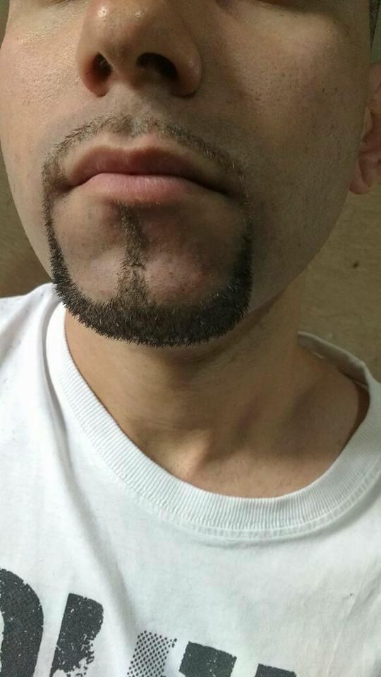 Cavanhaque. cabelo barbeiro(a)