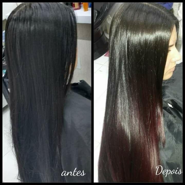 Ombre marsala cabelo cabeleireiro(a) designer de sobrancelhas maquiador(a)