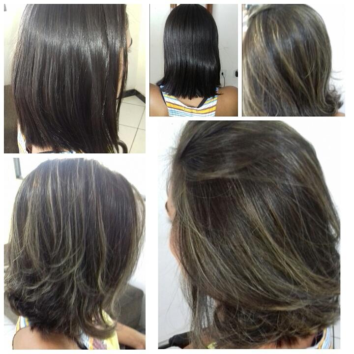 #morenailuminada #curtoelindo #mechas #novovisual cabelo cabeleireiro(a)