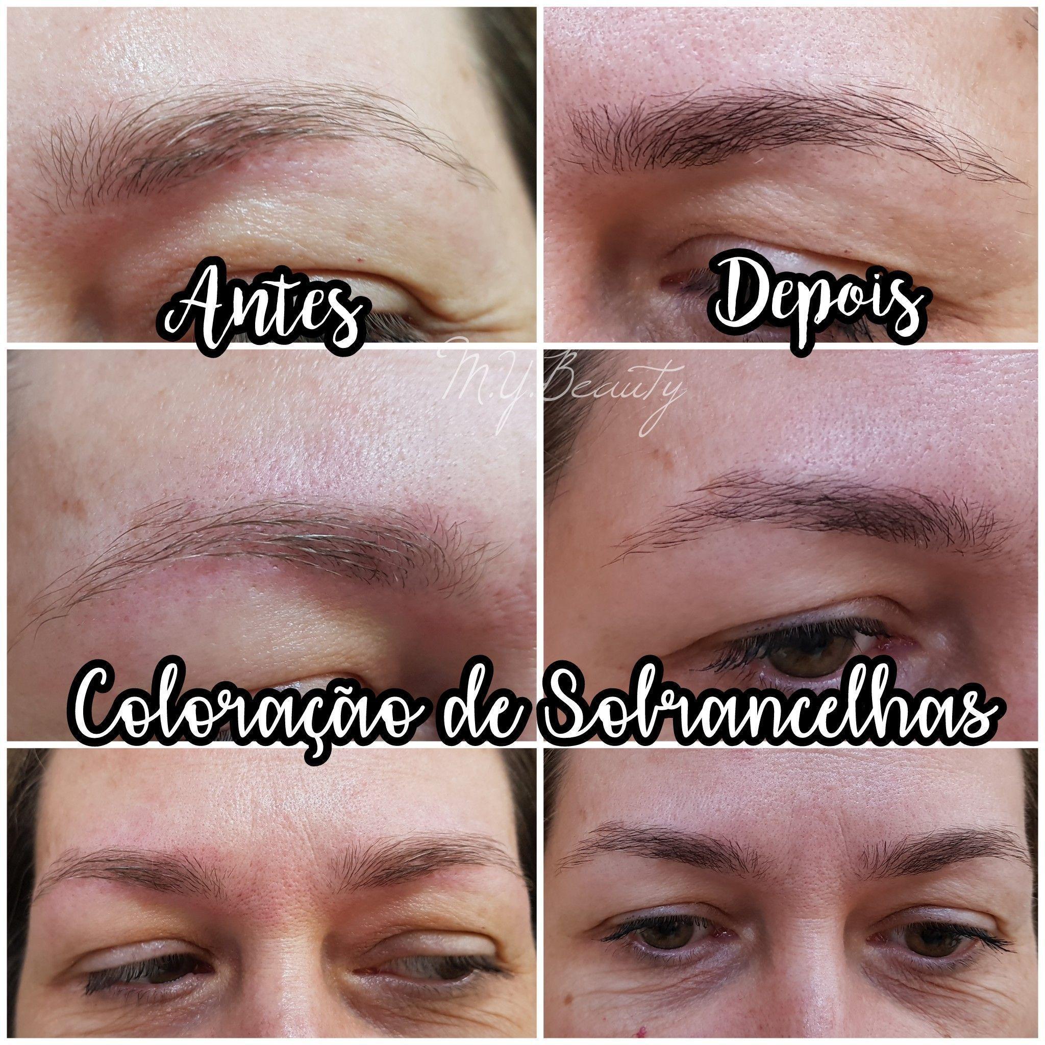 Coloração de sobrancelhas estética depilador(a) depilador(a) designer de sobrancelhas