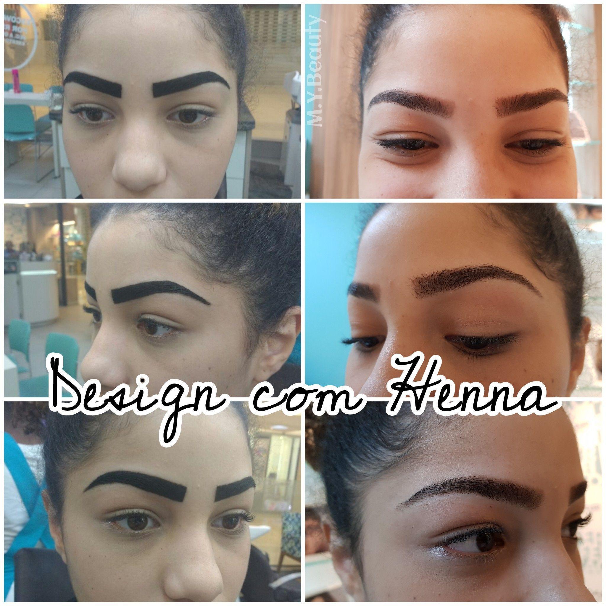 Design de sobrancelha com aplicação de henna depilador(a) depilador(a) designer de sobrancelhas
