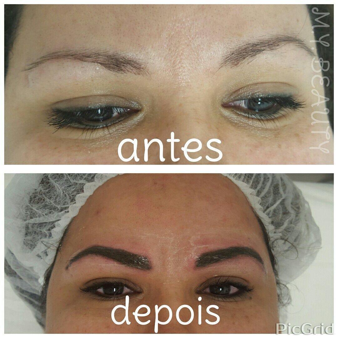 Micropigmentação de sobrancelhas com técnica esfumada depilador(a) depilador(a) designer de sobrancelhas