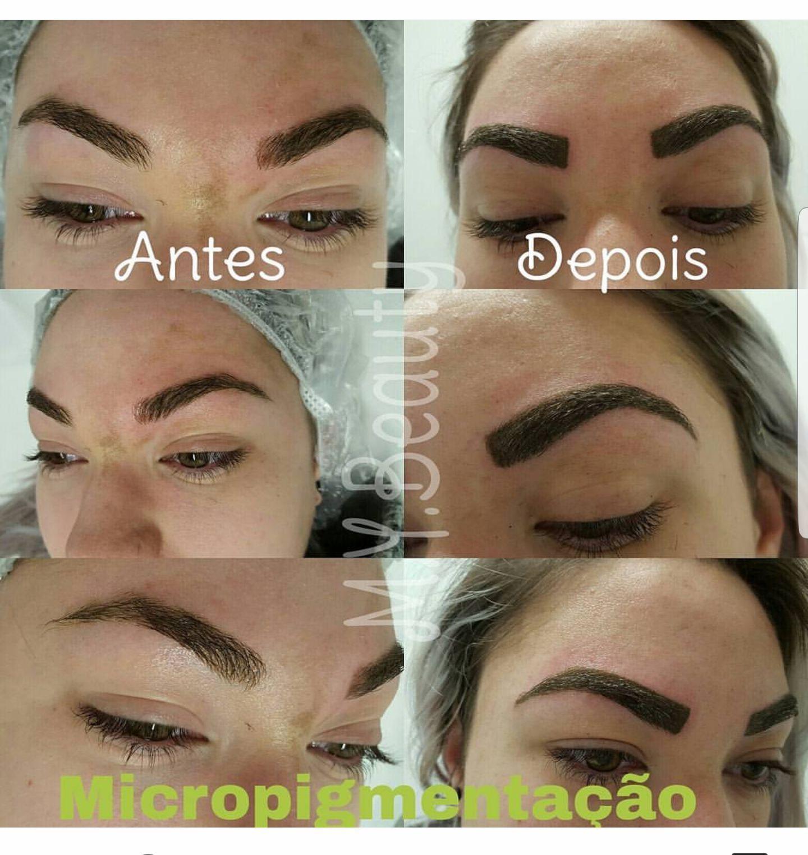 Micropigmentação com técnica esfumada depilador(a) depilador(a) designer de sobrancelhas