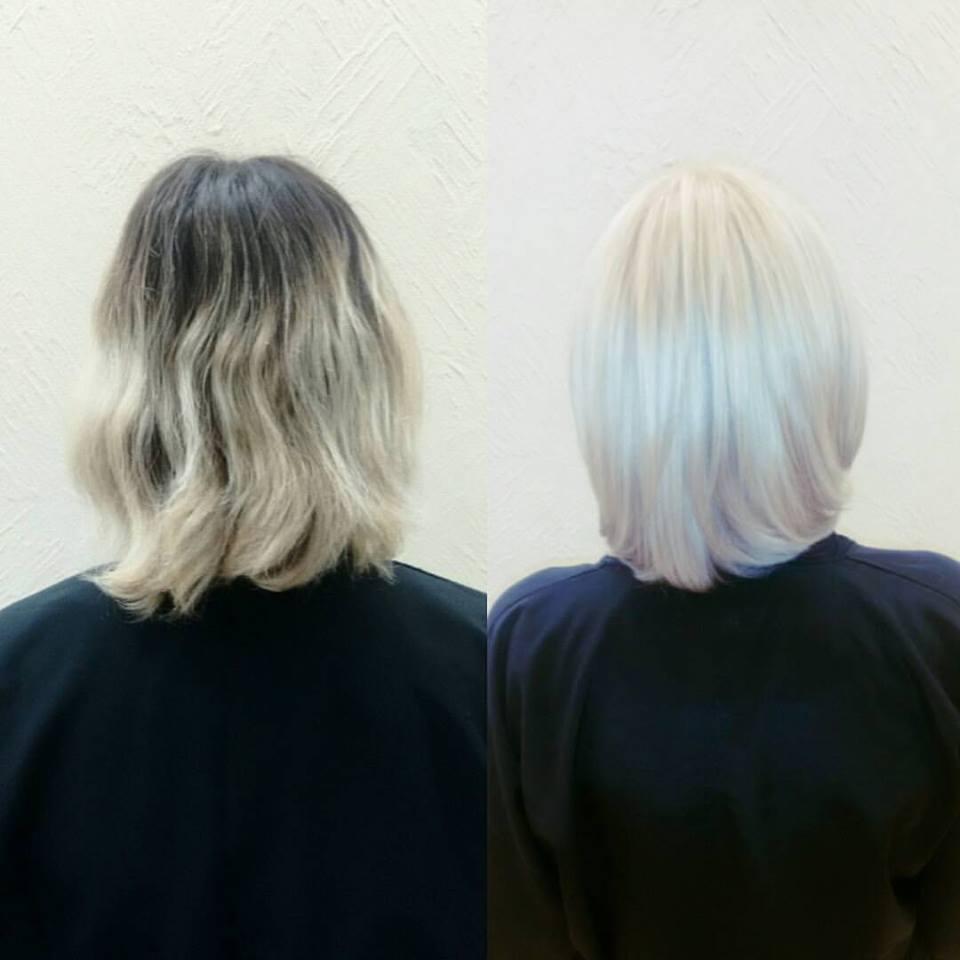 Descoloração global. cabelo cabeleireiro(a) maquiador(a) designer de sobrancelhas