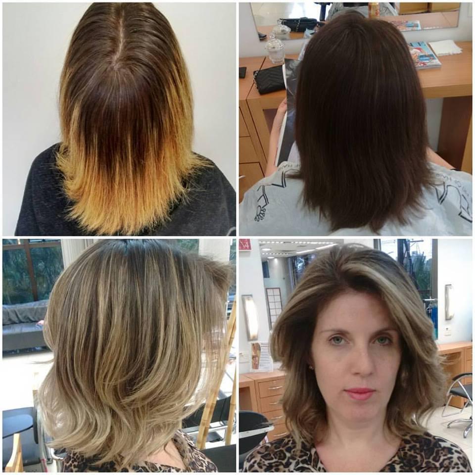 Correção de cor. cabelo cabeleireiro(a) maquiador(a) designer de sobrancelhas
