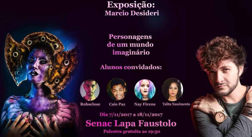 Participação exposição Senac  maquiagem cabeleireiro(a) maquiador(a) designer de sobrancelhas