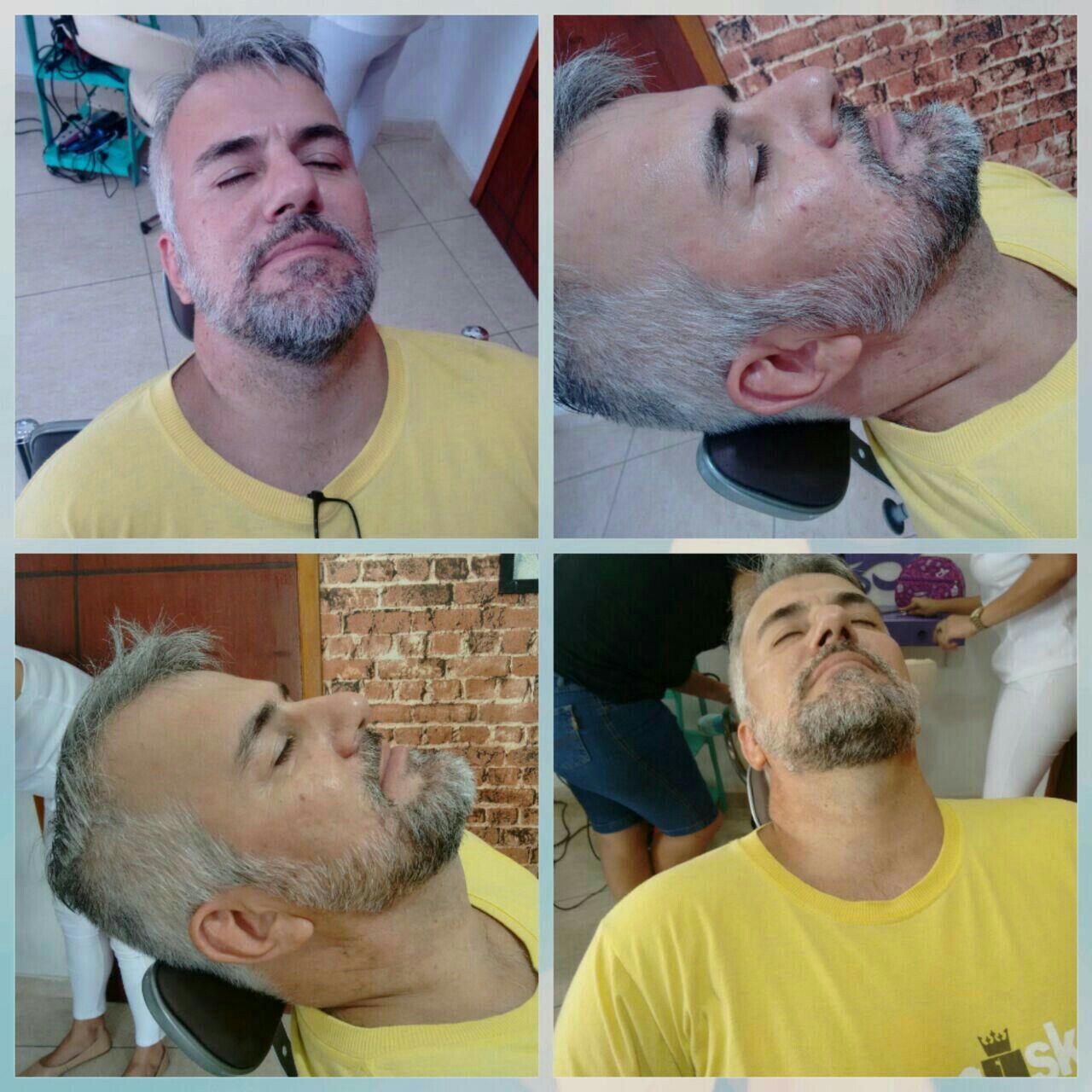 Barba modelada. outros barbeiro(a)