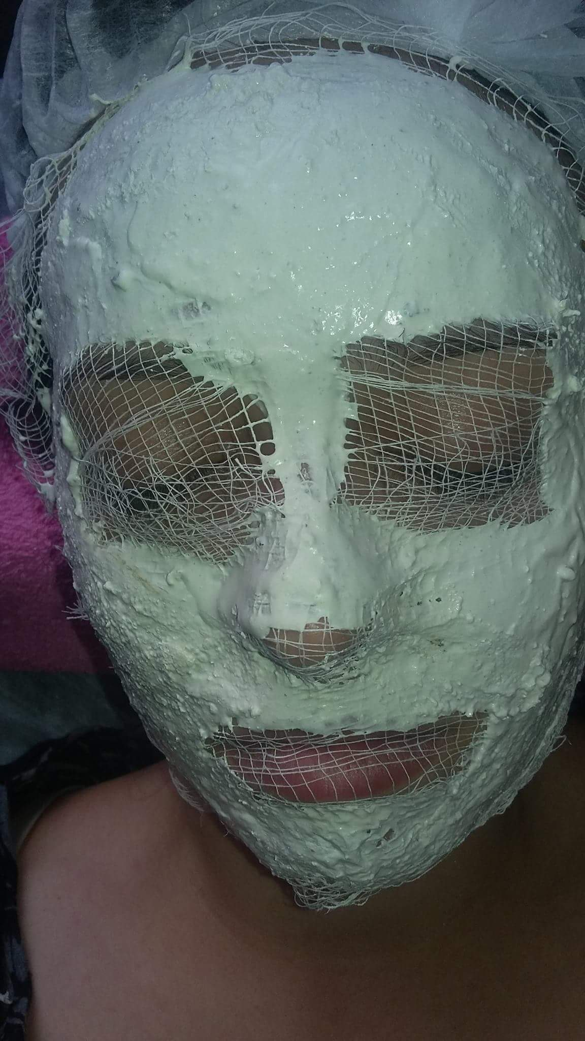 Máscara de pérola ,revigora a pele desvitalizada.  estética esteticista