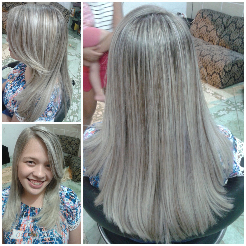 Luzes+corte+escova cabelo auxiliar cabeleireiro(a)