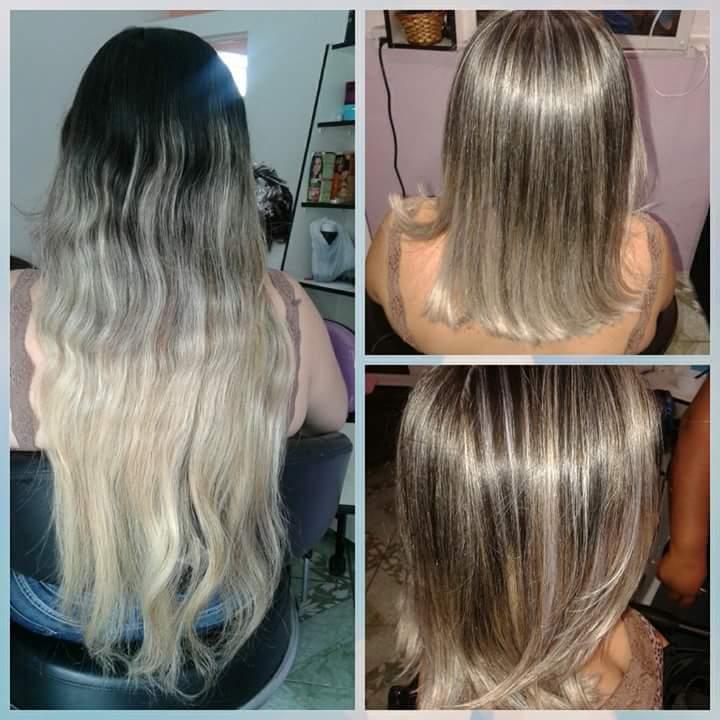Corte+luzes+selagem cabelo auxiliar cabeleireiro(a)