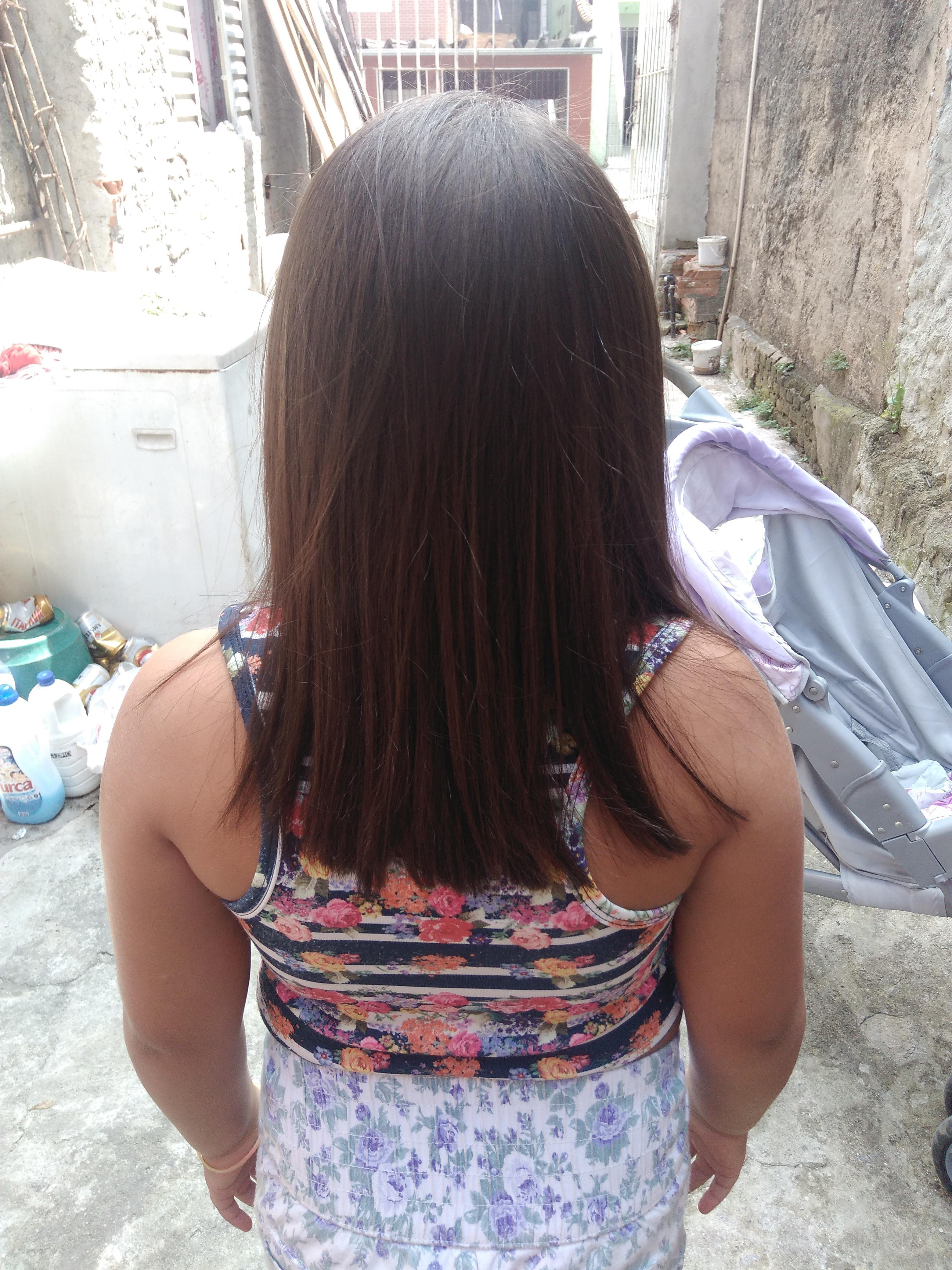 Progressiva,corte feito em casa cabelo era bem cacheado ficou super liso. cabelo cabeleireiro(a) auxiliar cabeleireiro(a) manicure e pedicure
