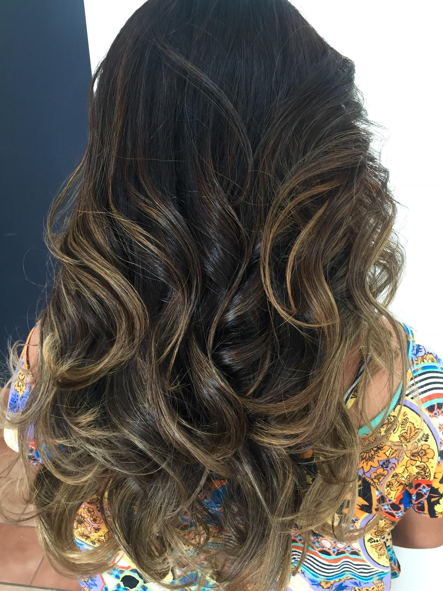 #freehand #ombrehair #waves  cabelo cabeleireiro(a)