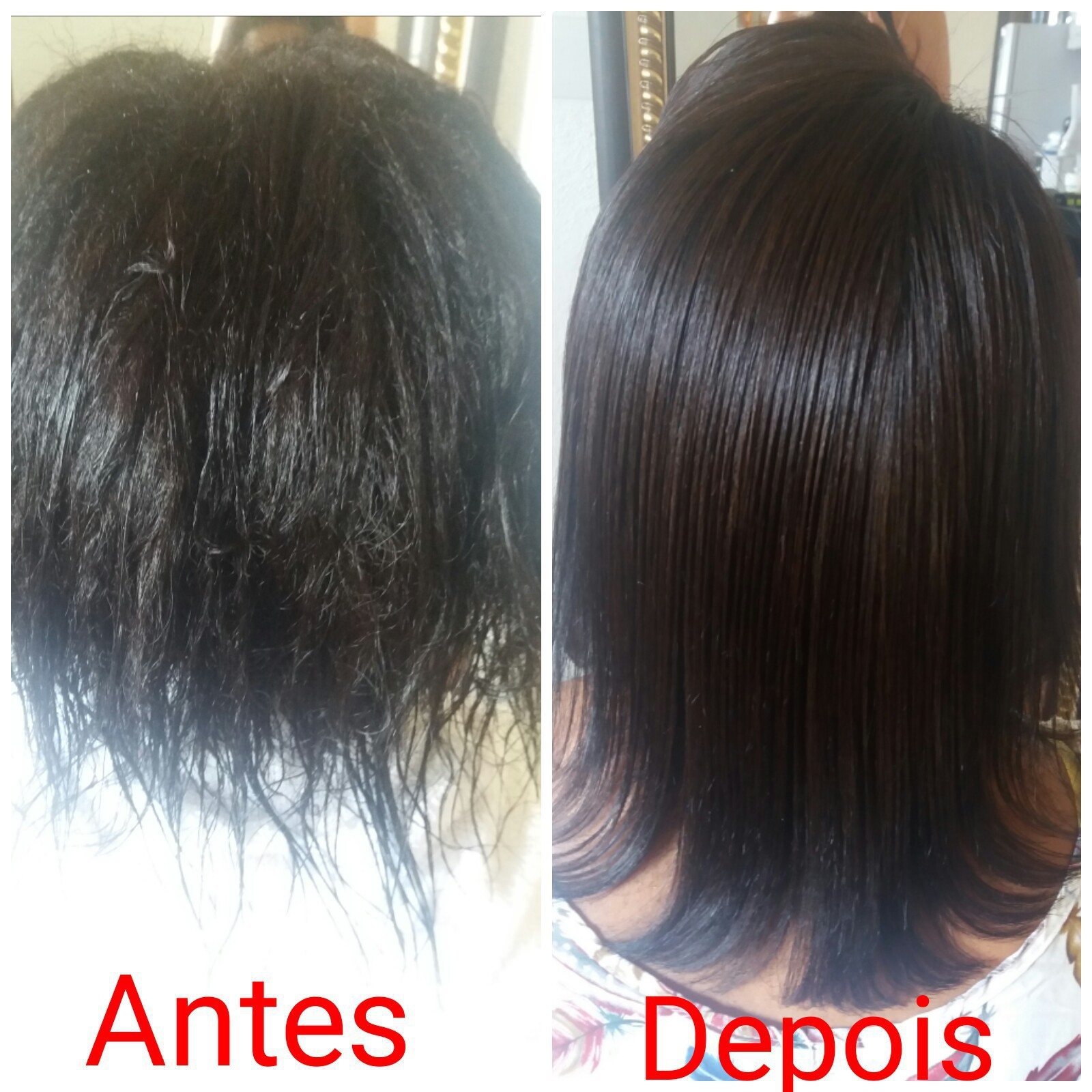 Escova progressiva em um cabelo super dificil de alisar  cabelo manicure e pedicure auxiliar cabeleireiro(a)