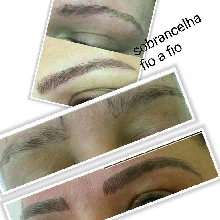 Sobrancelha fio a fio  estética cabeleireiro(a) designer de sobrancelhas micropigmentador(a)