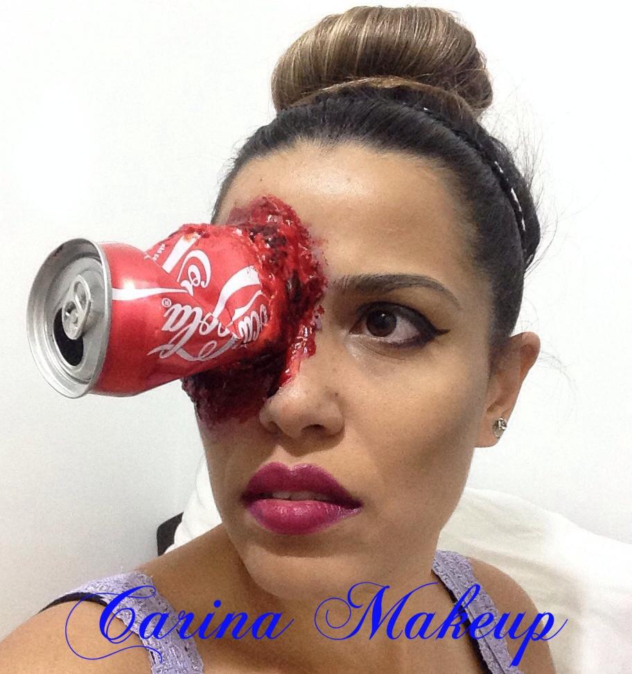 Maquiagem de Halloween 👻 #latinha #halloween #diadasbruxas #lovemakeup  maquiagem maquiador(a) esteticista