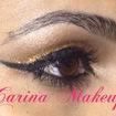 Make dourada com delineado caprichado. #nocapricho #dourado #maquiagem #lovemakeup